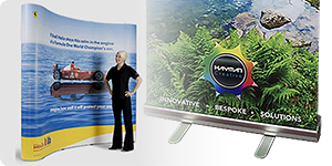 a pop up and pull up banner stand